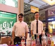 佛山岭南购物城万圣节调酒活动学员户外实践